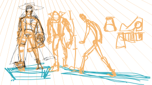 Pose References, with perspective applied.