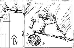 First storyboard draft (1/2)