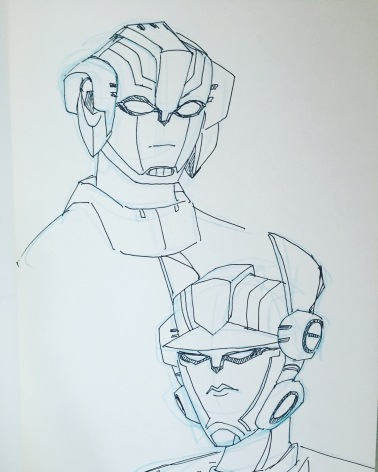Cisswap!Arcee and Optimus Prime (2016)