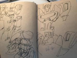 Ref sketches of Shockwave's upper body