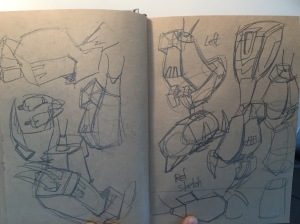 Ref sketches of Shockwave's claws