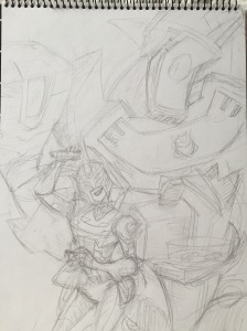 Pencil Sketch, now with BA and shading added