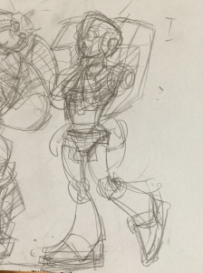 Final Pose Sketch (Arcee)