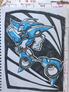 First Blue Inking