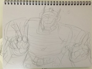 First pencil draft