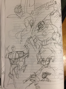 Some of the story doodles