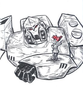 TFA Megatron and Sari