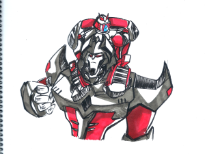 Unrelated sketch of TFA Megs with TFA Ratch