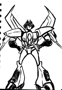 TFA Slipstream sketch (drawn with a loose brush pen)